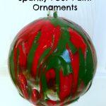 Sparkly Pour-Paint Ornaments
