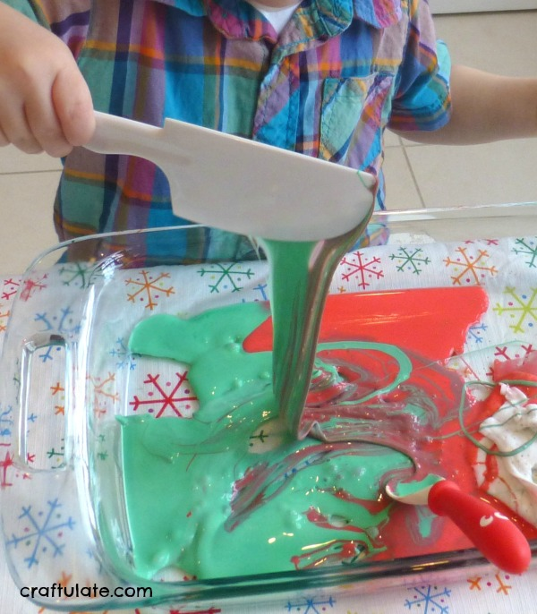 Christmas Slime for Sensory Play