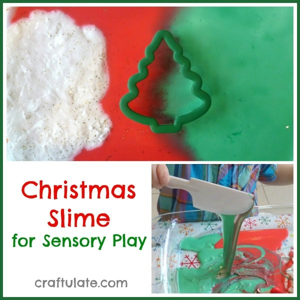 Christmas Slime for Sensory Play from Craftulate