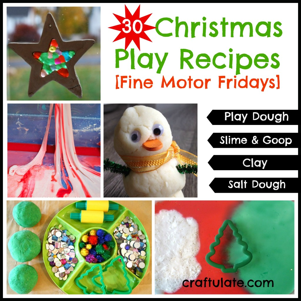 30 Christmas Play Recipes {Fine Motor Fridays}