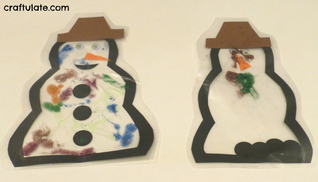 Craftulate: Snowman Suncatcher