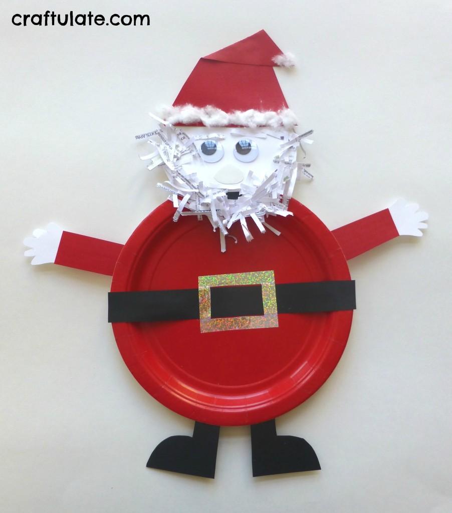 Paper Plate Santa Craft Craftulate Pe x Paper Plate Santa Craft
