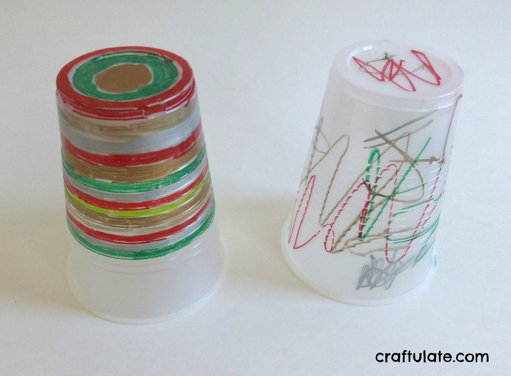 Melted Plastic Cup Ornaments