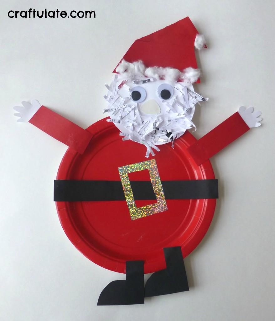 Paper Plate Santa Craft Craftulate