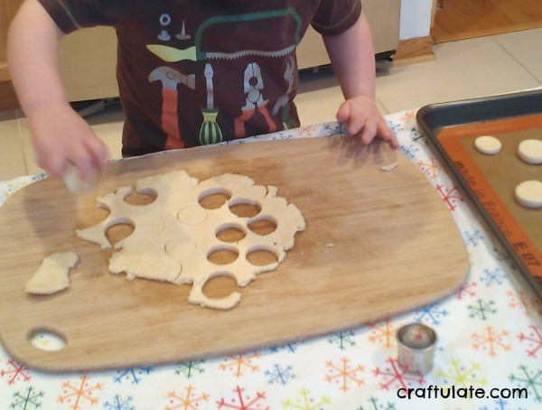 Toddler Made Cheese Crackers - super easy recipe for kids to make