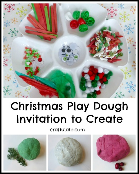 Christmas Play Dough - Invitation to Create by Craftulate