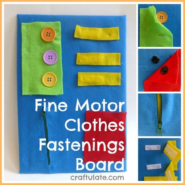 Fine Motor Clothes Fastenings Board