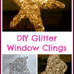 DIY Glitter Window Clings