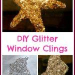 DIY Glitter Window Clings