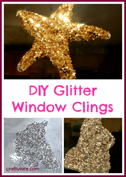 DIY Glitter Window Clings from Craftulate
