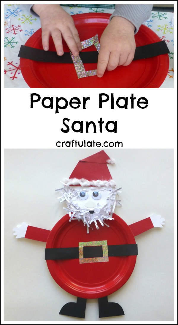 Paper Plate Santa Craft for kids  sc 1 st  Craftulate & Paper Plate Santa Craft - Craftulate