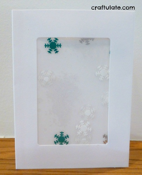 Snowflake Card Craft for Little Kids
