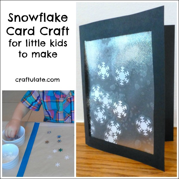 Snowflake Card Craft for Little Kids To Make