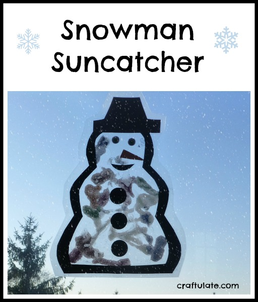 Snowman Suncatcher by Craftulate