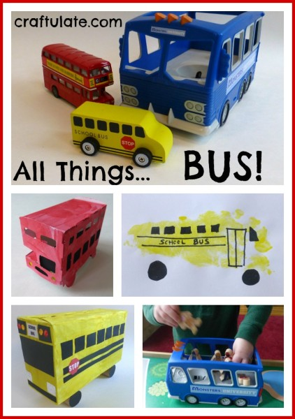 All Things Bus - crafts and activities for kids with a bus theme