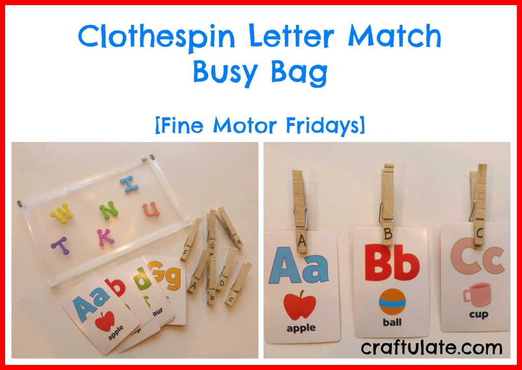 Clothespin Letter Match Busy Bag