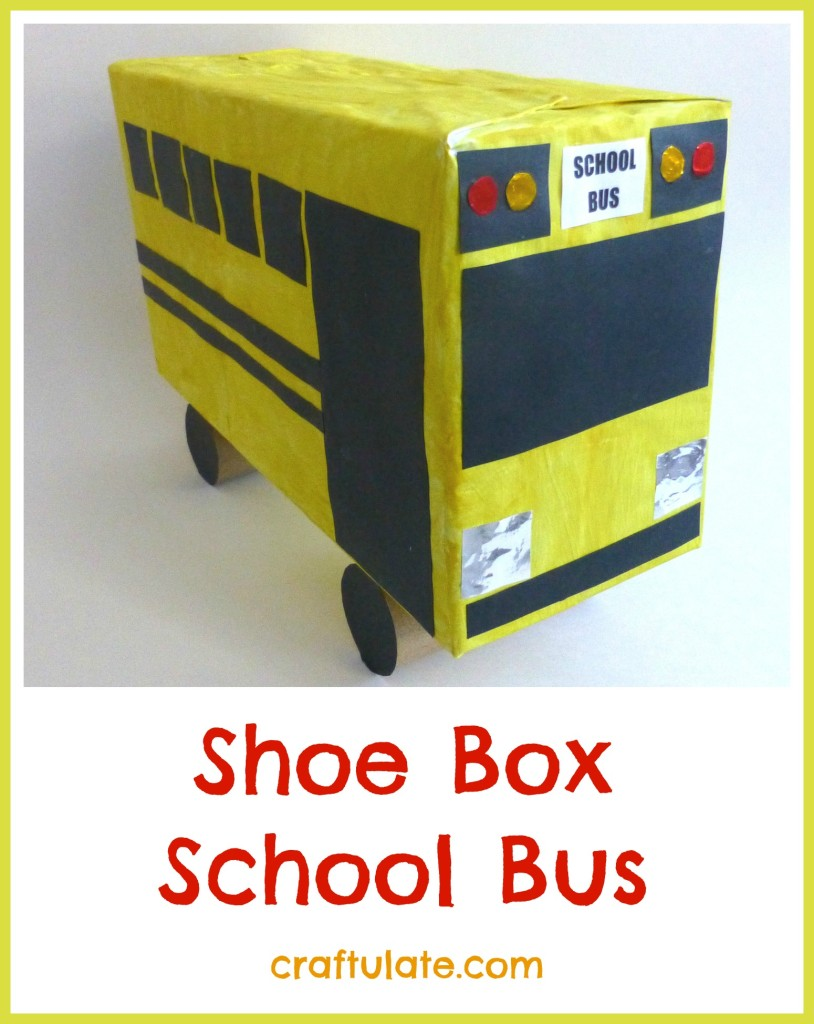 Shoe Box School Bus - a fun craft for kids to make!