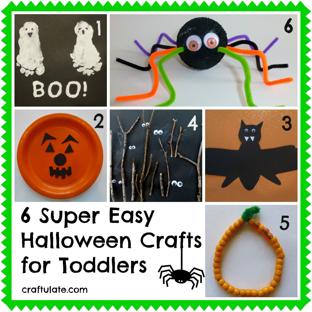 6 Super Easy Halloween Crafts for Toddlers