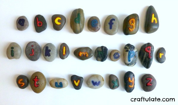 Alphabet Rocks - a tactile learning tool for little kids
