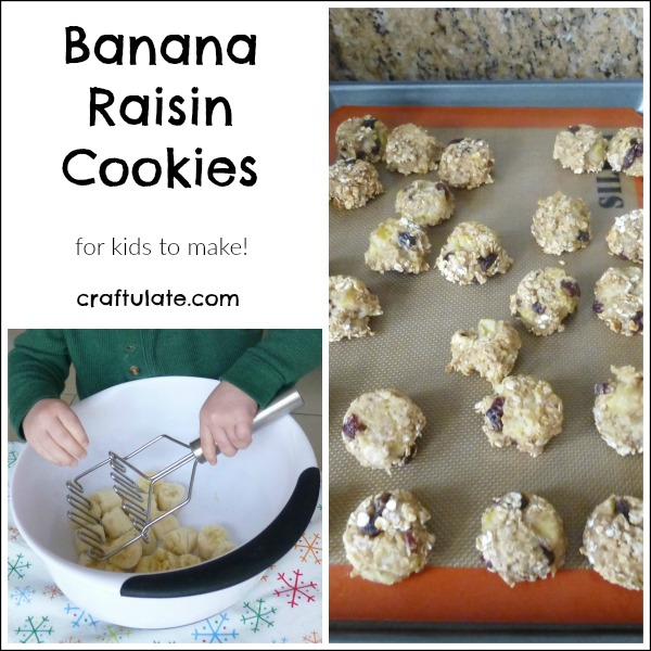 Banana Raisin Cookies - make them with your toddler!