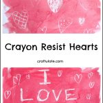 Crayon Resist Hearts