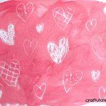 Crayon Resist Hearts