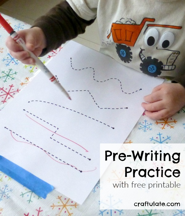 Pre-Writing Practice - with free printable