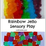 Rainbow Jello Sensory Play