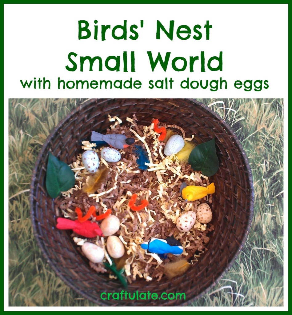 Birds' Nest Small World - sensory play for kids