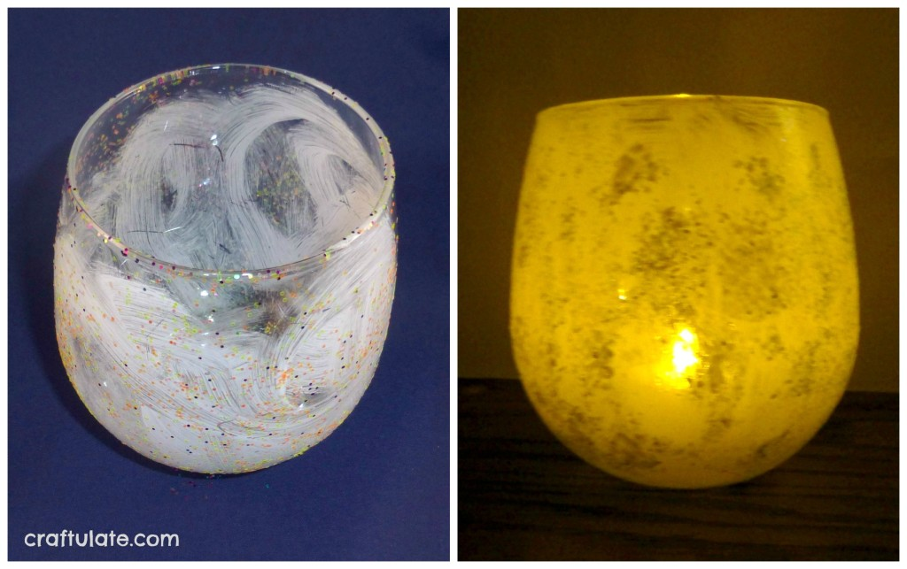 Glitter Glass Candle Holders