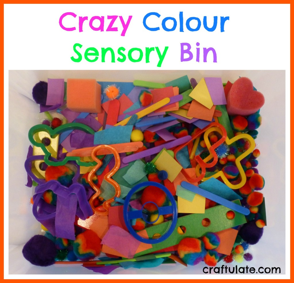 Crazy Colour Sensory Bin