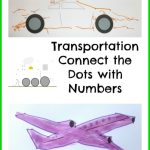 Transportation Connect the Dots with Numbers