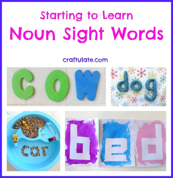Starting to Learn Noun Sight Words