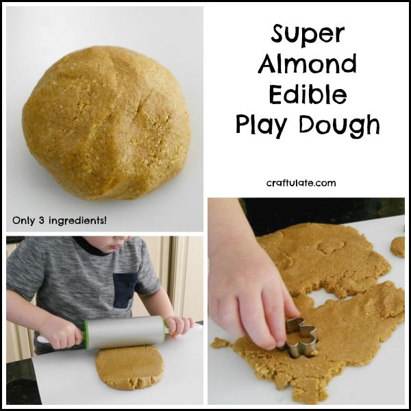 Super Almond Edible Play Dough - just three ingredients!