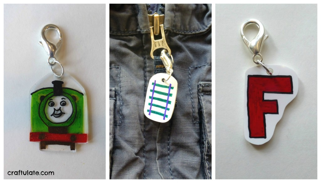 Shrinky Dink Zipper Pulls