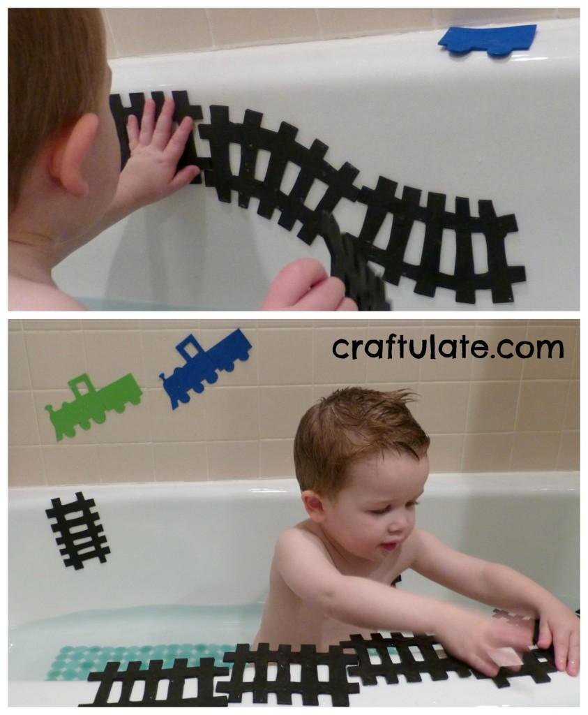 DIY Train Set for the Bath