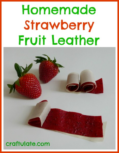 This homemade strawberry fruit leather is a fun snack to make for ...