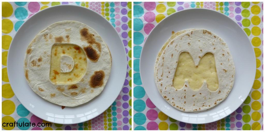 Easy Personalised Quesadillas for Kids