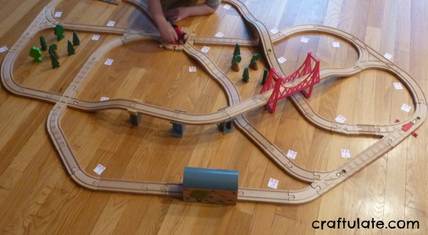 Alphabet Train - kids have to collect the letters in the correct order!
