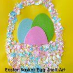 Easter Basket Egg Shell Art