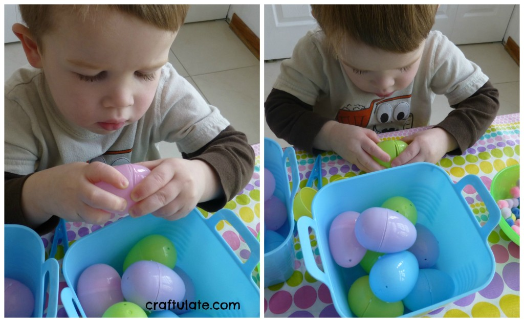 Easter Egg Fine Motor Fun with Pompoms