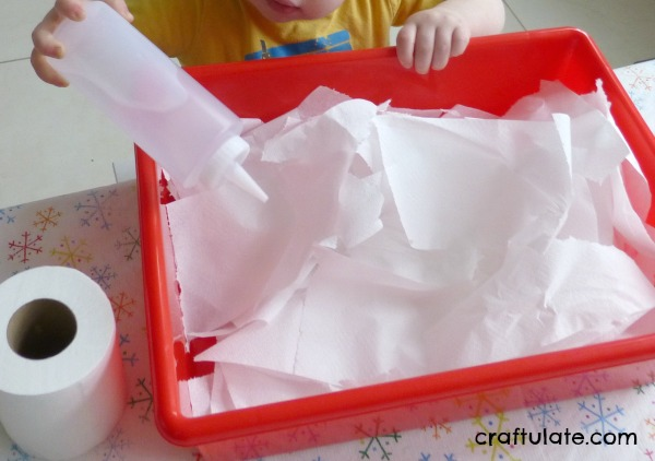 Sensory Bins with Paper