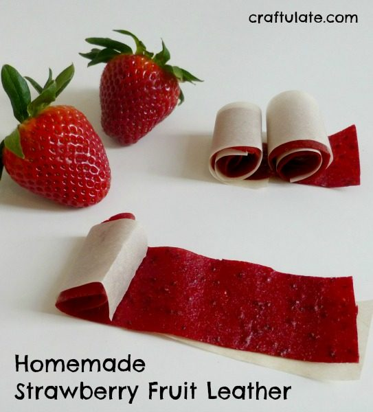 Homemade Strawberry Fruit Leather - a fun healthy snack for kids
