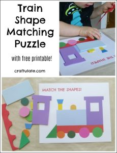 Train Shape Matching Puzzle