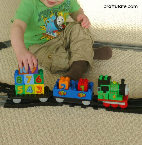 Train Track Number Hunt - a fun learning activity for toddlers