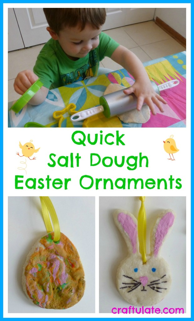 Quick Salt Dough Easter Ornaments for kids to make
