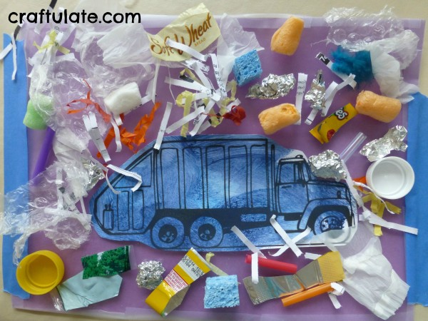 Garbage Truck Collage