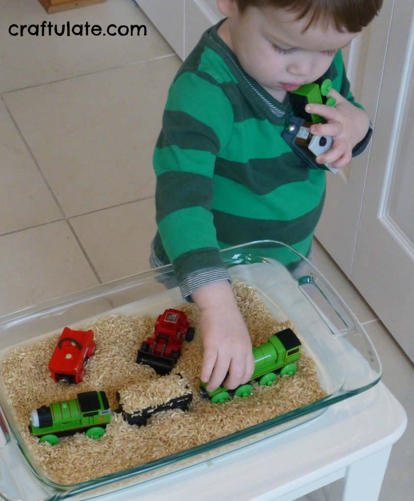 Child-Led Sensory Play with Rice