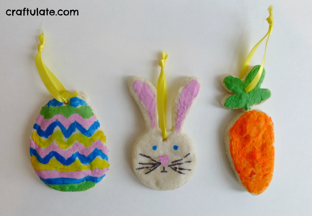 Quick Salt Dough Easter Ornaments