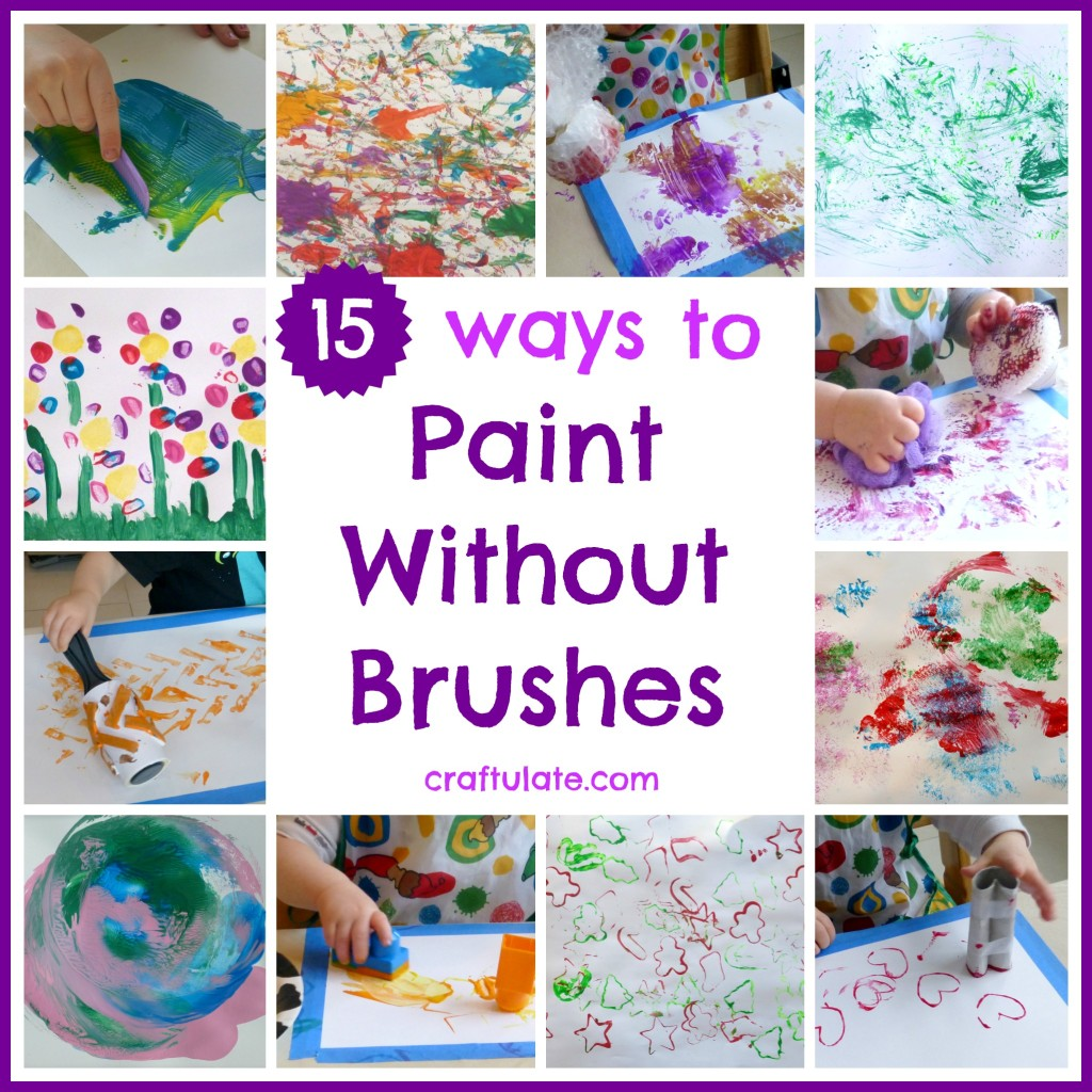 15 Ways to Paint Without Brushes - get creative with the kids!